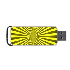 Sunburst Pattern Radial Background Portable USB Flash (Two Sides)