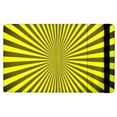 Sunburst Pattern Radial Background Apple iPad 2 Flip Case