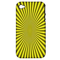 Sunburst Pattern Radial Background Apple Iphone 4/4s Hardshell Case (pc+silicone)