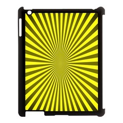 Sunburst Pattern Radial Background Apple iPad 3/4 Case (Black)