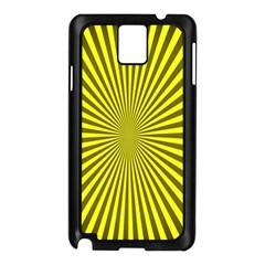 Sunburst Pattern Radial Background Samsung Galaxy Note 3 N9005 Case (Black)