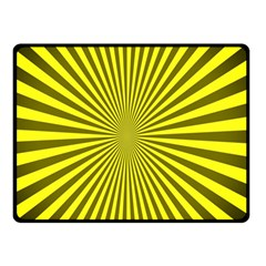 Sunburst Pattern Radial Background Double Sided Fleece Blanket (small)