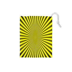 Sunburst Pattern Radial Background Drawstring Pouches (Small)