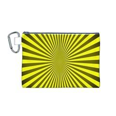 Sunburst Pattern Radial Background Canvas Cosmetic Bag (m)