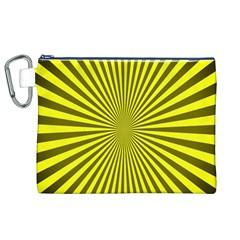 Sunburst Pattern Radial Background Canvas Cosmetic Bag (xl)