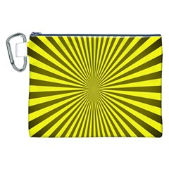 Sunburst Pattern Radial Background Canvas Cosmetic Bag (xxl)