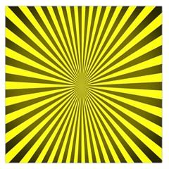 Sunburst Pattern Radial Background Large Satin Scarf (Square)