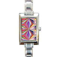 Star A Completely Seamless Tile Able Design Rectangle Italian Charm Watch