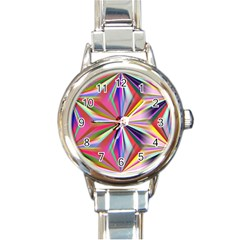 Star A Completely Seamless Tile Able Design Round Italian Charm Watch