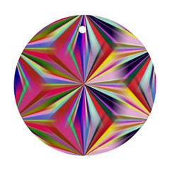 Star A Completely Seamless Tile Able Design Ornament (Round)