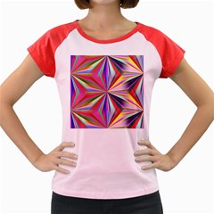 Star A Completely Seamless Tile Able Design Women s Cap Sleeve T-Shirt