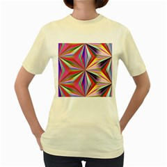 Star A Completely Seamless Tile Able Design Women s Yellow T-Shirt