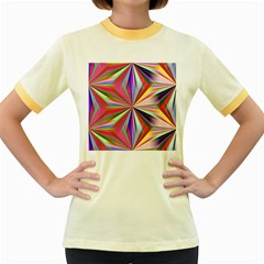 Star A Completely Seamless Tile Able Design Women s Fitted Ringer T-Shirts
