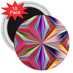 Star A Completely Seamless Tile Able Design 3  Magnets (10 Pack)