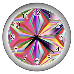 Star A Completely Seamless Tile Able Design Wall Clocks (silver)