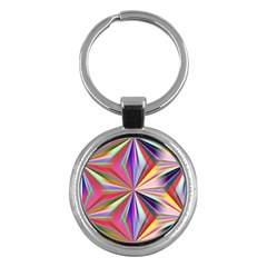 Star A Completely Seamless Tile Able Design Key Chains (Round)