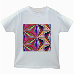 Star A Completely Seamless Tile Able Design Kids White T Shirts