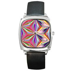 Star A Completely Seamless Tile Able Design Square Metal Watch