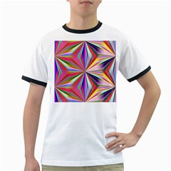 Star A Completely Seamless Tile Able Design Ringer T Shirts