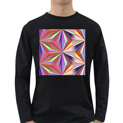 Star A Completely Seamless Tile Able Design Long Sleeve Dark T-Shirts