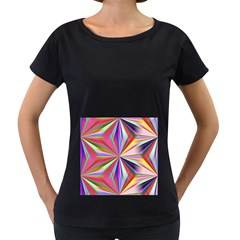 Star A Completely Seamless Tile Able Design Women s Loose Fit T Shirt (black)