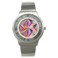 Star A Completely Seamless Tile Able Design Stainless Steel Watch