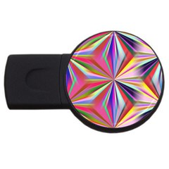 Star A Completely Seamless Tile Able Design USB Flash Drive Round (4 GB)