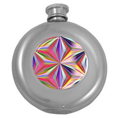 Star A Completely Seamless Tile Able Design Round Hip Flask (5 Oz)