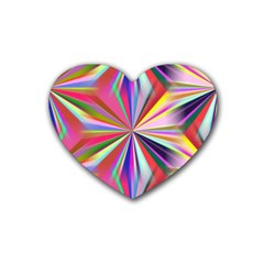 Star A Completely Seamless Tile Able Design Rubber Coaster (Heart)