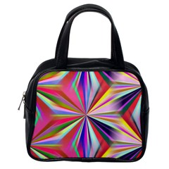 Star A Completely Seamless Tile Able Design Classic Handbags (One Side)
