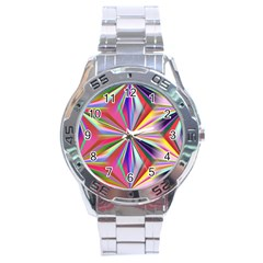 Star A Completely Seamless Tile Able Design Stainless Steel Analogue Watch