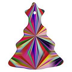 Star A Completely Seamless Tile Able Design Christmas Tree Ornament (Two Sides)