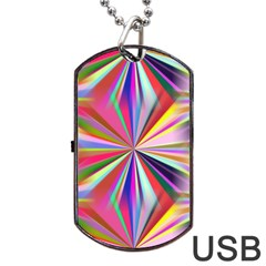Star A Completely Seamless Tile Able Design Dog Tag USB Flash (Two Sides)