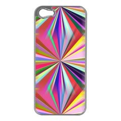 Star A Completely Seamless Tile Able Design Apple iPhone 5 Case (Silver)
