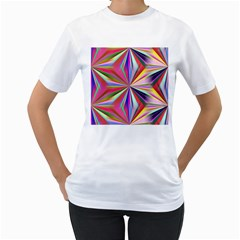 Star A Completely Seamless Tile Able Design Women s T Shirt (white)