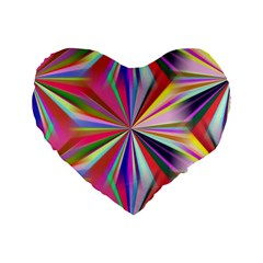 Star A Completely Seamless Tile Able Design Standard 16  Premium Flano Heart Shape Cushions