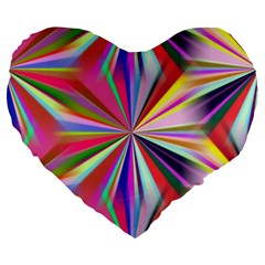 Star A Completely Seamless Tile Able Design Large 19  Premium Flano Heart Shape Cushions