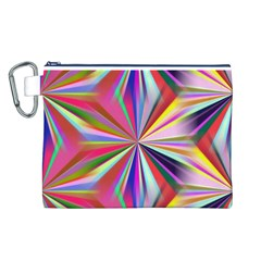 Star A Completely Seamless Tile Able Design Canvas Cosmetic Bag (L)