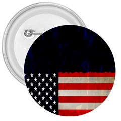 Grunge American Flag Background 3  Buttons