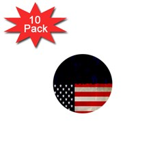 Grunge American Flag Background 1  Mini Buttons (10 Pack)