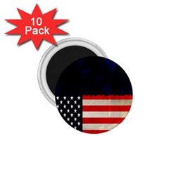Grunge American Flag Background 1 75  Magnets (10 Pack)