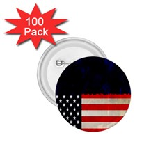 Grunge American Flag Background 1.75  Buttons (100 pack)