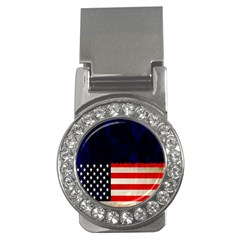 Grunge American Flag Background Money Clips (CZ)