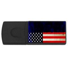 Grunge American Flag Background USB Flash Drive Rectangular (1 GB)