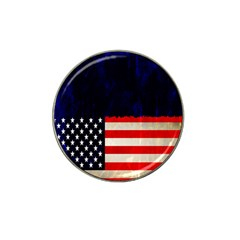 Grunge American Flag Background Hat Clip Ball Marker (4 Pack)
