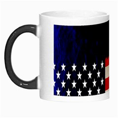 Grunge American Flag Background Morph Mugs