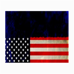 Grunge American Flag Background Small Glasses Cloth