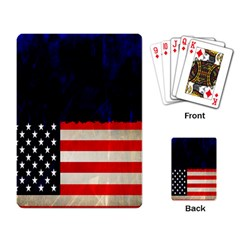 Grunge American Flag Background Playing Card