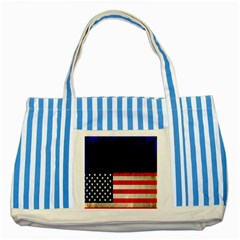 Grunge American Flag Background Striped Blue Tote Bag