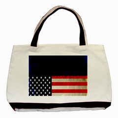 Grunge American Flag Background Basic Tote Bag (Two Sides)